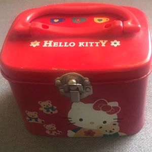 Red Hello Kitty metal box